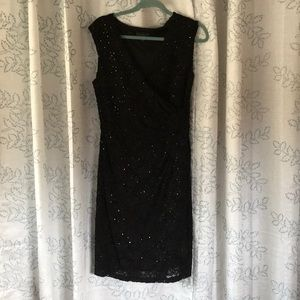 Connected Apparel sequined lace dress.